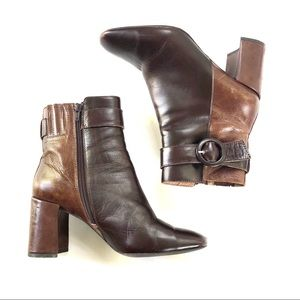 Jeffrey Campbell Two Toned Hartford Brown Boots